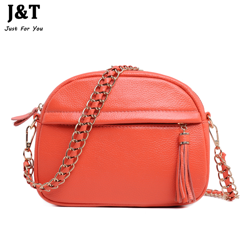 Fashion Tassel Chain Bag First Layer Genuine Leather Women's Handbag Shoulder Women Cowhide Cross-Body Messenger Bags Small Bag