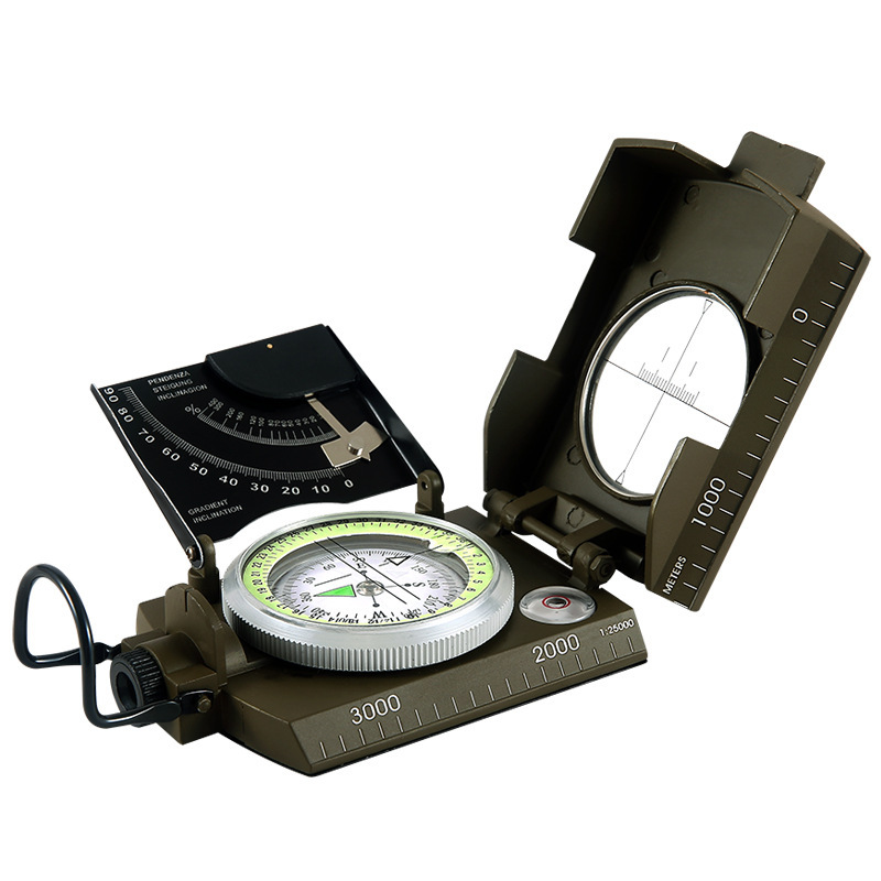 The best quality and the most accurate compass military geological compass aiming luminous compass outdoor camping is not fake(China (Mainland))