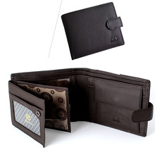 Brand DXL Men Genuine Leather Wallet Monederos Leather Coin Purse Wallet Trifold Male Card Holder Purse Leather Pouch Wallet