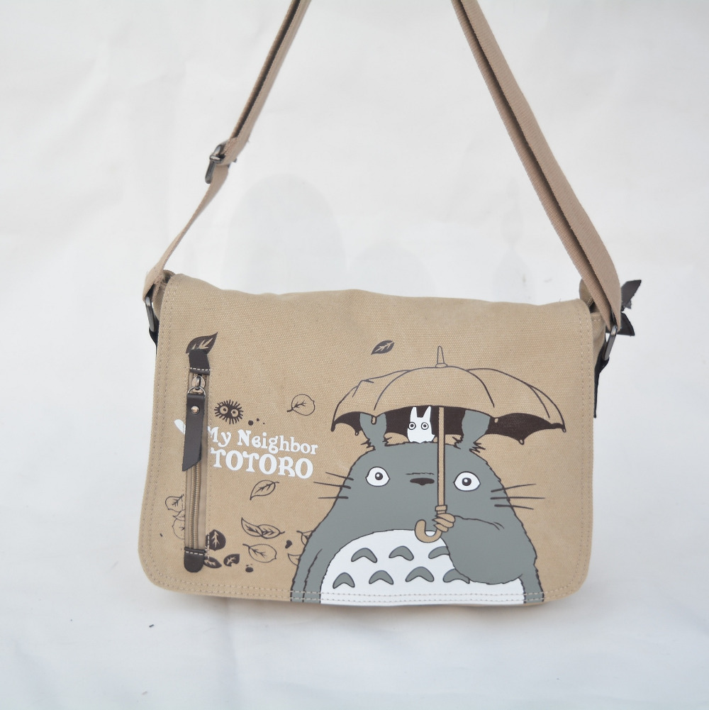 2016 Anime My Neighbor Totoro Messenger Canvas Bag Shoulder Bag Sling Pack My Neighbor Totoro Bag Cosplay(China (Mainland))
