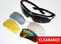 Clear Out Interchangeable Prescription Polarized Sport Sunglasses 5 Lenses for Bike Cycling and Golf , Popular Eyeglasses