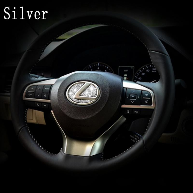 * DSYCAR Zinc alloy Steering wheel decoration sticker logo Emblem Badge Car styling Modification for Lexus es/es200 nx/nx200 rx(China (Mainland))