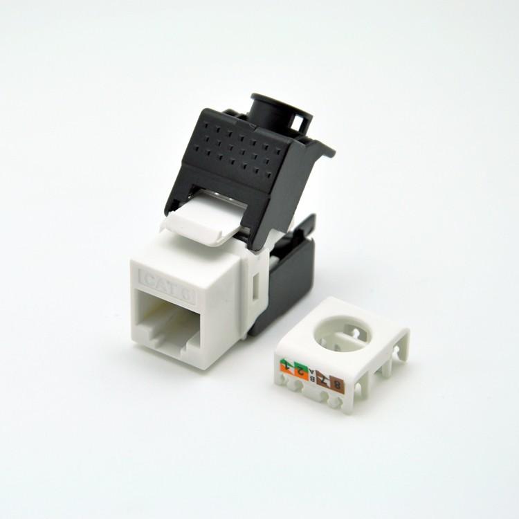 (12pcs/pack) CAT6 Keystone Jacks RJ45 to LSA, toolless type, fits faceplate/wallplate & blank patch panel(China (Mainland))