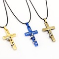 Hot Anime Death Note Black Gold Metal Necklace Cross Logo Pendant Cosplay Accessories Jewelry can Drop-shipping