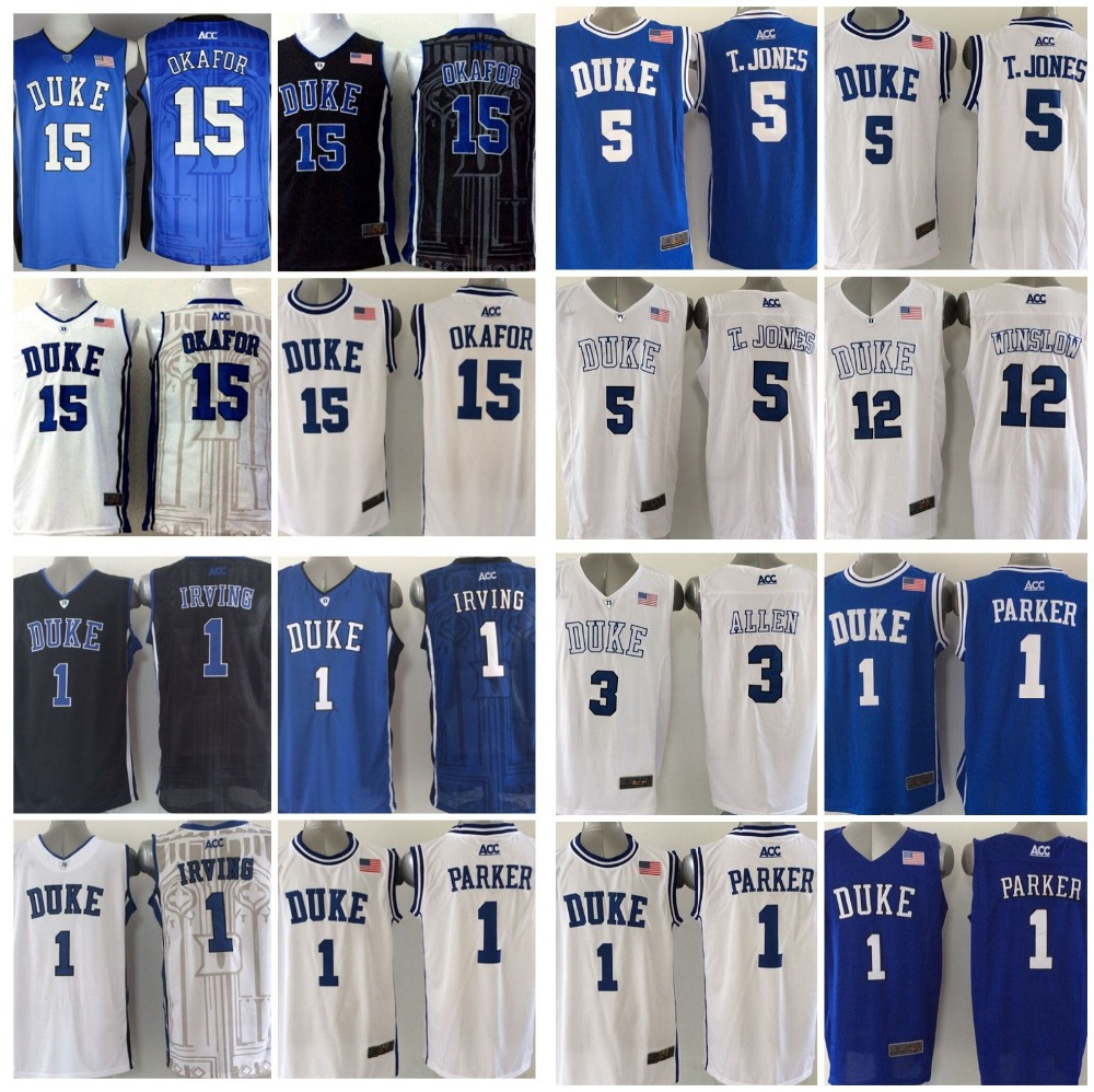 3 Grayson Allen Justise Winslow College Basketball Tyus Jones Duke Blue Devils Jersey 1 Jabari Parker,Kyrie Irving,Jahlil Okafor(China (Mainland))