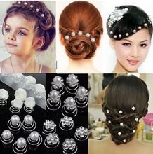 20X Mixed Sprial Bridal Party Wedding Pearl Crystal Rhinestone Hair pin Pins[JH01050 HP10]