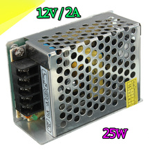 High Quality 12V 2A 25w Switching Led DC Power Supply non-waterproof Led Driver For 3528/5050 LED Strip Light Block Power