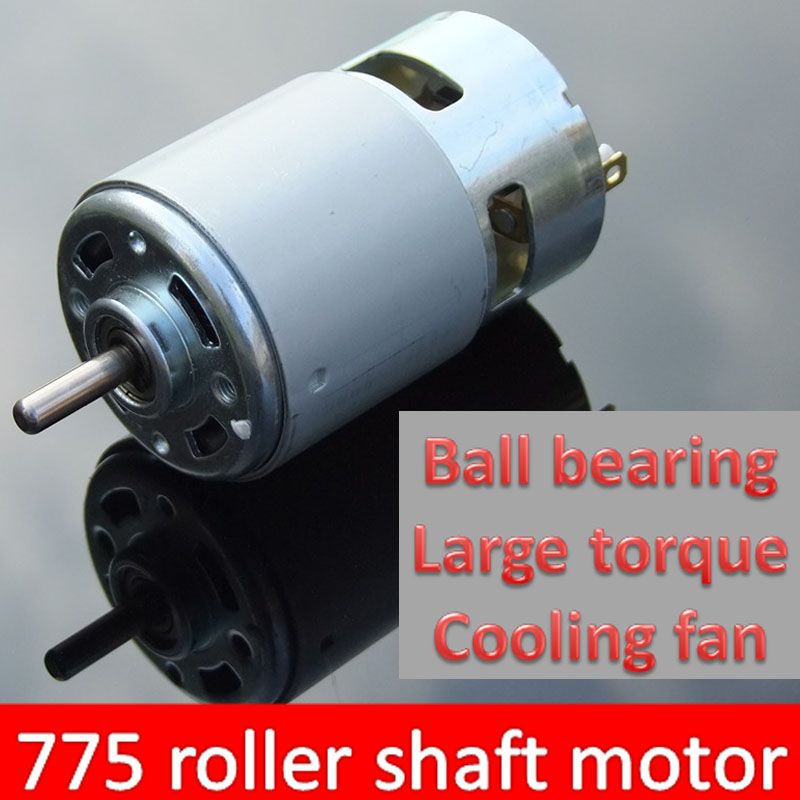 775 ball circular shaft 12 36 v dc motor cooling fan with high torque for drill