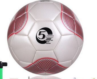 High quality jotsell soccer PVC size 5 football for training Rugby Ball with Steel cylinder and net and Steel gas needle(China (Mainland))
