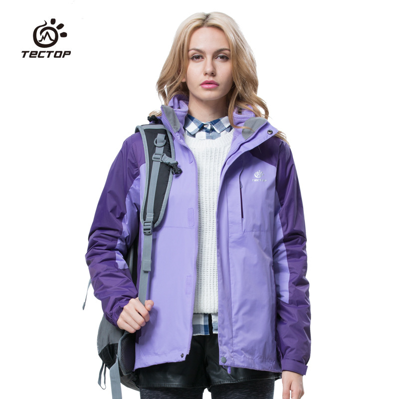 2016 Tectop women outdoor waterproof jackets 3 in1 softshell windbreaker parka thermal keep warm for outdoor camping ande hiking<br><br>Aliexpress