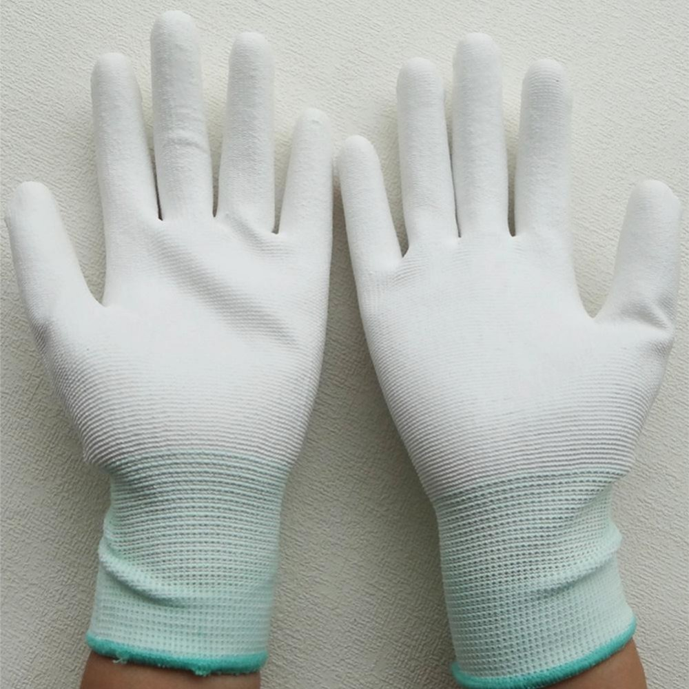 1/5 Pairs PU Anti Static Safe Universal Gloves Electronic Working Gloves PC Computer Antiskid for Finger Protection