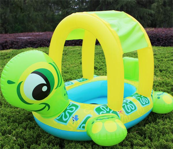 2015 baby swimming ring seat,swim kids seat float Tortoise, baby float with sunshade, pool float, swim toy(China (Mainland))