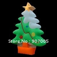 DAD76 3mH 10′ Airblown Inflatable Christmas Tree ornament Xmas Yard Art Decoration + 1 CE/UL Blower + Repair Kids + Bag