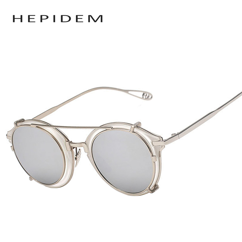 2017 Vintage Steam Punk Pink Flip to take off Gothic Sun Glasses for Women Brand Designer Sunglasses Metal Steampunk Cheap China(China (Mainland))