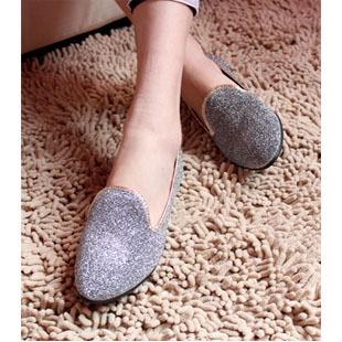 Fashion fashion metal paillette women's pointed toe shoes flat single shoes product women's shoes