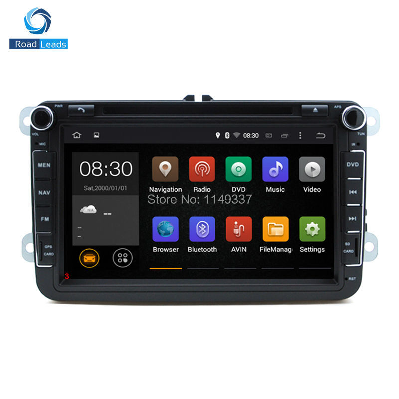 Hot Sale Android 4.4.4 Car DVD GPS Navigation for Volkswagen VW JETTA GOLF MK5 MK6 GTI PASSAT B6 POLO SKODA Fabia Free map card(China (Mainland))