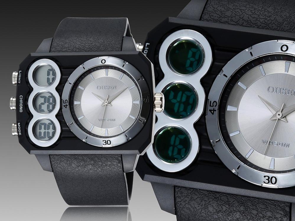 2015 new fashion analog digital el backlight