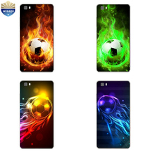 Phone Case Huawei P8/P8 P9 Lite Plus G9 Shell Honor 5C 7 7I Back Cover Mate 8 Cellphone Fire Football Design - WISAPI Store store