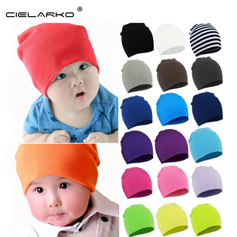Cielarko Autumn Winter Warm Kids Hat Cotton Baby Hat Girl Boy Toddler Infant Kids Caps Candy Color Lovely Baby Beanies Hats 077(China (Mainland))