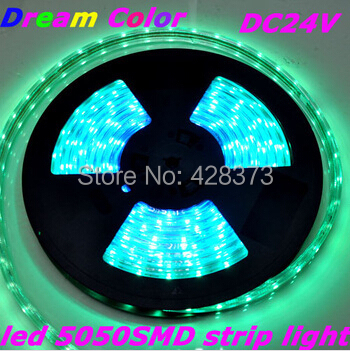 DC24V 6M 36leds/m Max 10.8W IP68 Dream Color SMD5050 LED Flexible Strip With Related Controller(China (Mainland))
