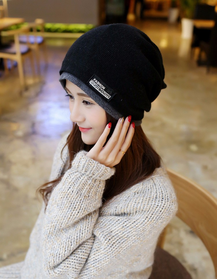 Womens Hats Wool Knitted Beanies Hat Infinity Scarf Winter Skullies Cap Turban Mens Summer Beanie Neck Warmer Gorros Feminino