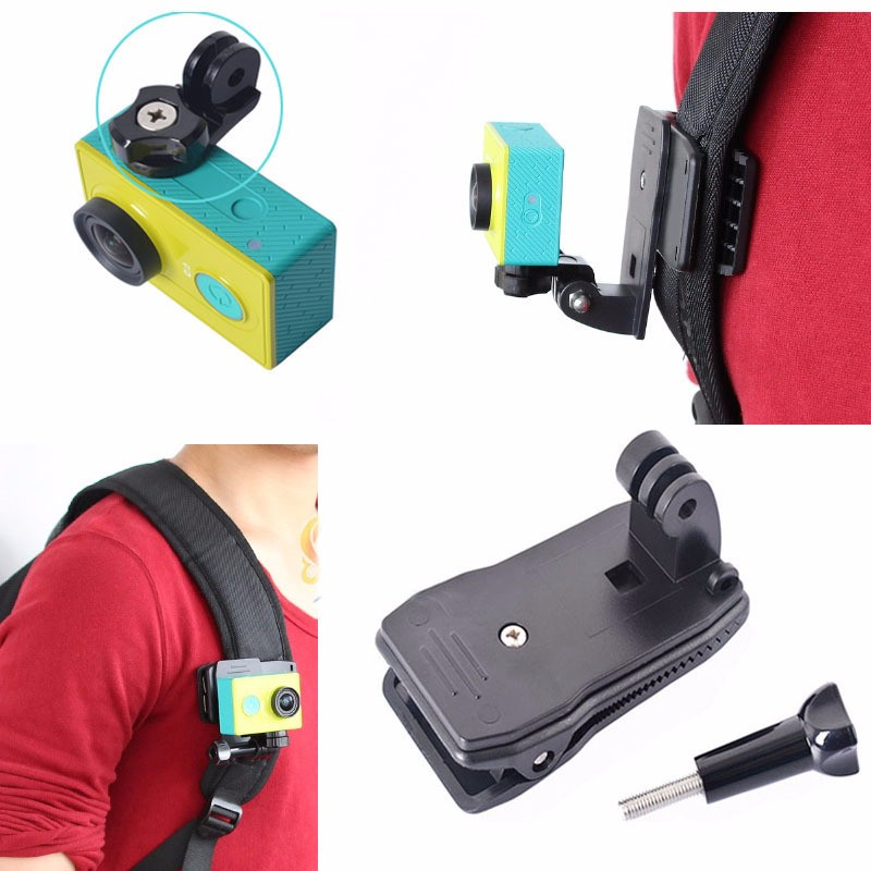 xiaomi yi Sports camera accessories action camera Backpack Hat Clip Fast Clamp Mount for gopro hero4/3+/3/2/1/sj4000 xiao mi yi