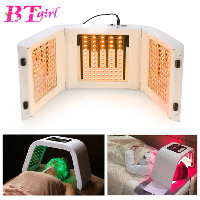 New 4 Color PDT LED Acne Light Therapy Machine LED Facial Mask Beauty SPA Phototherapy For Skin Rejuvenation Acne Remover
