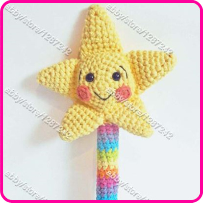 Wholesale new arrival Crochet Toy Pattern Amigurumi Magic Wand with Crochet Star plush toy animal new baby born gift(China (Mainland))