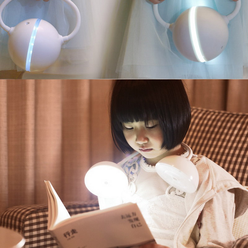 Free Shipping Flexible Headset Shape 18 LED Light Table Desk Lamp Touch Sensor USB Charge<br><br>Aliexpress