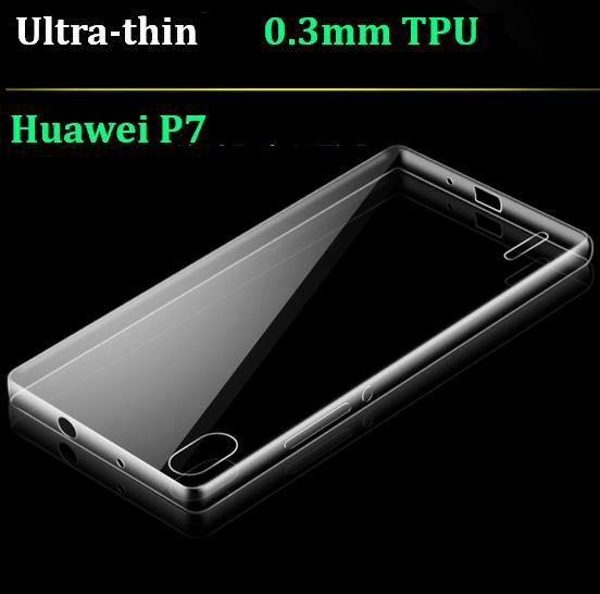 2015 new arrivel Huawei Ascend P7 phone case 0.3mm Ultra Thin crystal clear soft TPU transparent silicon back cover - BOSO Technology Co., Ltd (ShenZhen store)