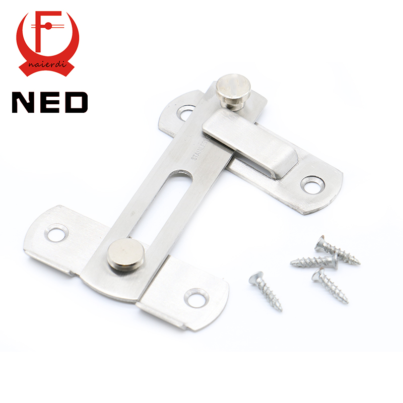 NED 304 Stainless Steel Hasp Latch Lock Sliding Door Simple Convenience Window Cabinet Locks For Home Hotel Door Security(China (Mainland))