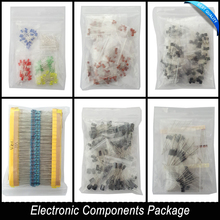 Electronic Components Package + Variable Electrolytic Capacitors+ Ceramic Capacitors +Resistance +LED Diodes Transistor(China (Mainland))