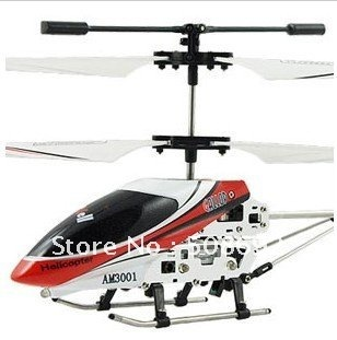 Christmas for New hand  RC  Helicopter Toy 3 Channel Gyroscope System Alloy Metal Frame LED light Free shipping