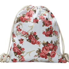 National Women Canvas Drawstring Backpack Newest Vintage College Students School Bagpack Girls Mochila Feminina Sports Sack Bags