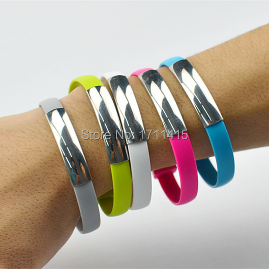 New Colorful Micro USB 2.0 Data Sync Charger Wrist Bracelet Shape Cable Lead Cord for Samsung S4 S6 For Android Smart Phone(China (Mainland))