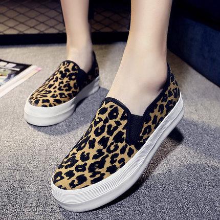 2016 мода леопарда бездельник женские туфли квартиры chaussure роковой zapatos планос mujer дамы на плоской подошве schoenen A82