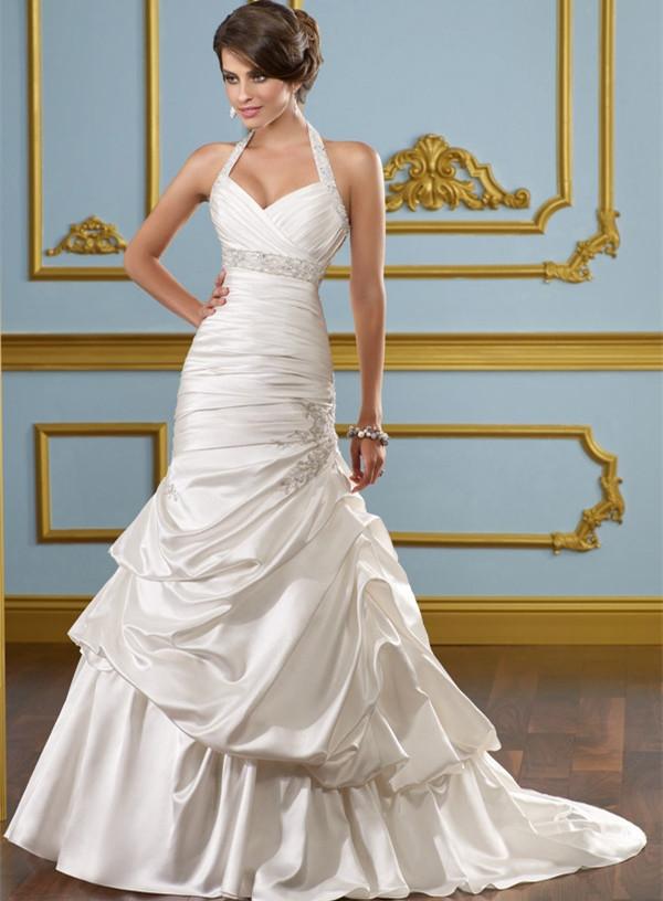 Turmec Plus Size Halter Neck Wedding Dresses