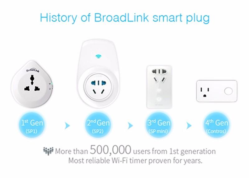 Original Broadlink SP3 CC Contros EU US plug WiFi Smart home Switch plug 16A + timer automation Control for IOS & Android