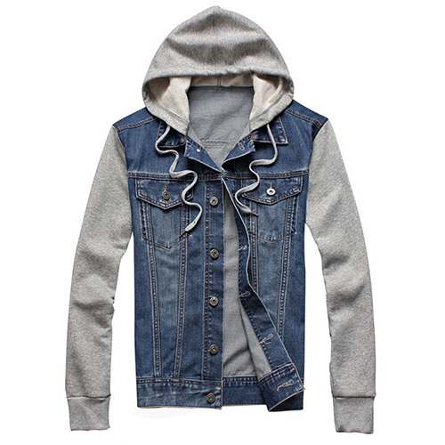 2015 New Fashion Men's Fleece Hoodies Cowboy Men Jacket Tracksuits Denim Jacket Men Jeans Jacket Men Hoodies And Sweatshirts(China (Mainland))