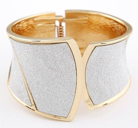 Chirstmas gift Exquisite Korean fashion silver 18k gold color fast wide bangle $15mixed order - PY Jewelry Co.,Ltd (Mini Order $15 store)
