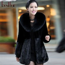 2016 New Winter Top Fashion Women Faux Fur Coat Female Cheap Mink Coats Jacket Casual Thick Warm Overcoat Outwear Clothing(China (Mainland))