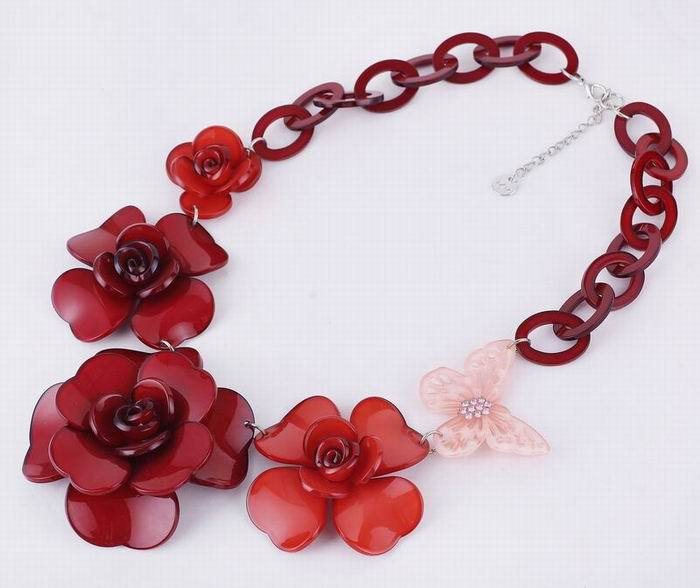 necklaces & pendants vintage statement necklace collier choker women simple Collares Jewelry Acrylic Flower Pendants kolye 2016(China (Mainland))