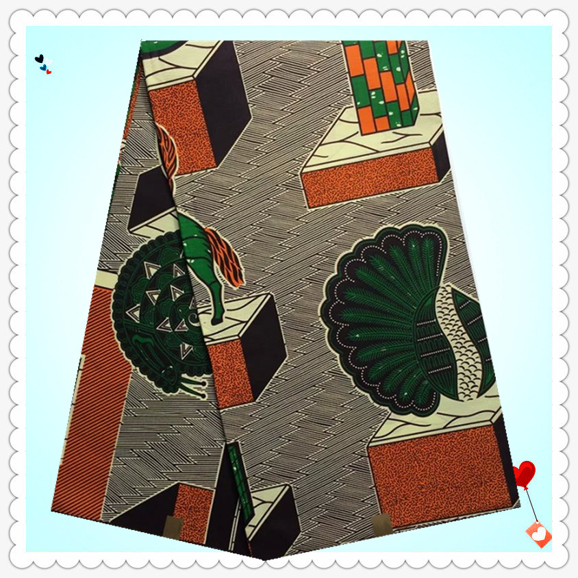 2016Latest new designs Printed Gray Hollandais Cotton Real Wax Fabric!Dutch Wax Cloth !NEW451