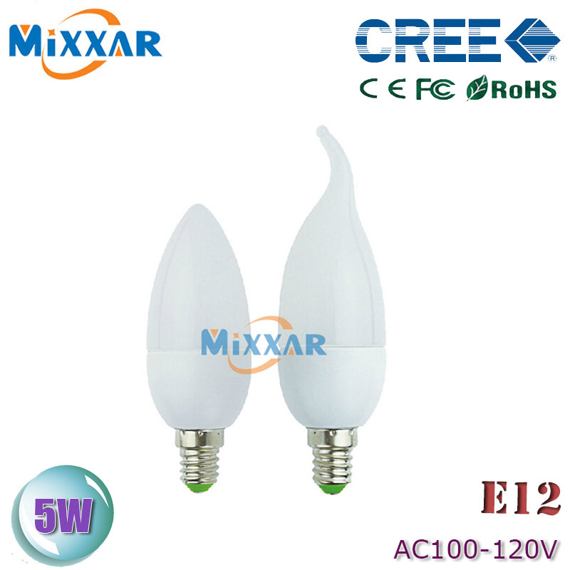 zk40 led bulbs E12 5W 110v Candle Light bulb lamp LED spot Light Candle Light Bulb E12 110V 220V 85-265V(China (Mainland))