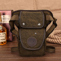 Men s Canvas Military Travel Motorcycle Riding Messenger Shoulder Hip Bum Fanny Pack Waist Thigh Drop