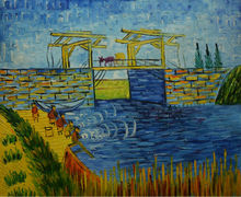 Buy Hand Painted Van Gogh Oil Painting Canvas Bridge Reproduction Canvas Painting Wall Art Picture Painting Living Room for $33.04 in AliExpress store