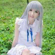 Wholesale& heat resistant LY free shipping>>>Anohana Flower We Saw That Day Meiko Menma Honma Long Cosplay Full Wig