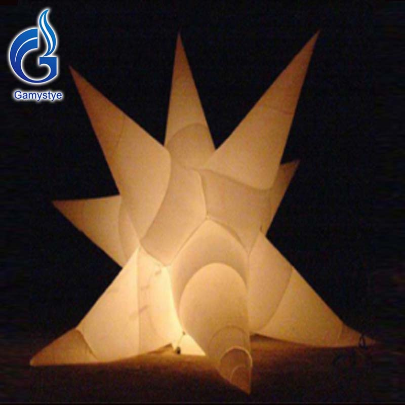 Inflatable Star With Charming Flashing LED Light Night Club Lighting Inflatable Display For Wedding Advertising Decoration(China (Mainland))