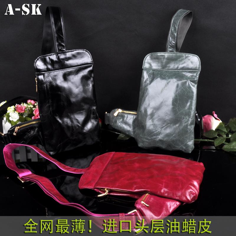 2015 Bolsas Handbags Bolsa Ask Genuine Leather Waist Pack Chest Sports Man Bag Oil Waxing Womens Handbag First Layer Of Cowhide <br><br>Aliexpress