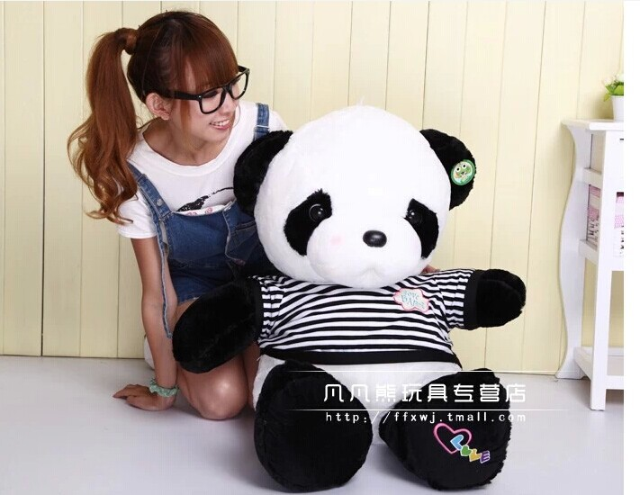 stuffed animal lovely panda 55cm sweater panda plush toy panda doll throw pillow gift w3532(China (Mainland))